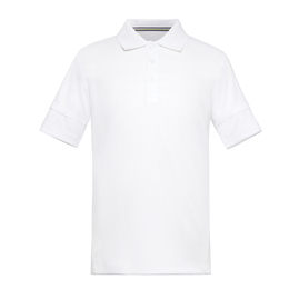 Boys' Short Sleeve Ribbed Collar Tennis Polo