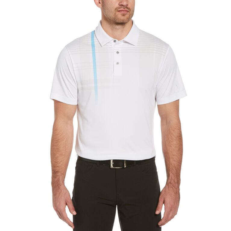 Oversized Plaid Print Short Sleeve Golf Polo Shirt