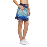 Alternate View 1 of Palm Springs Collection: Darby Water Print Straight Pull On Skort