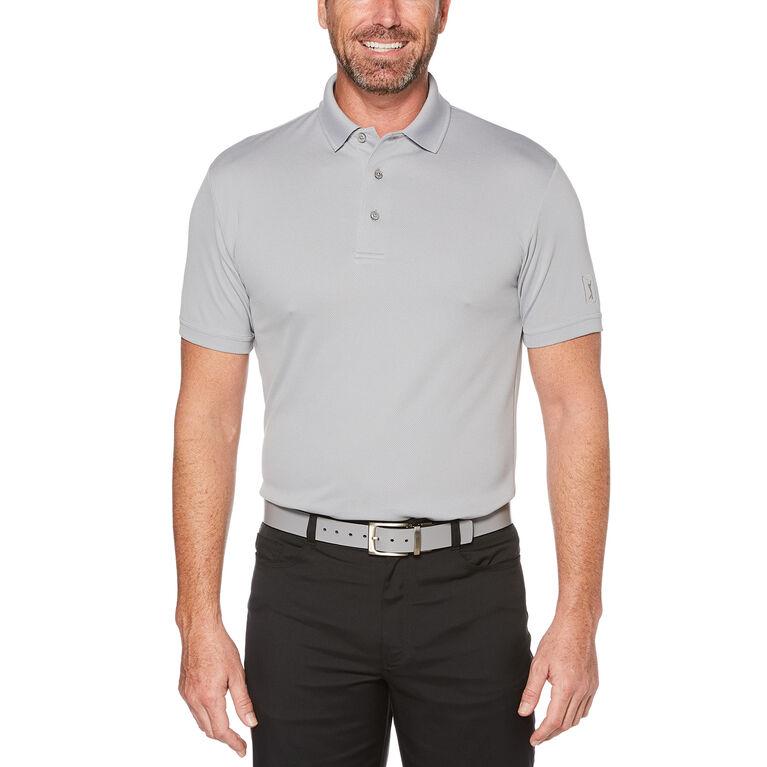 pga tour short sleeve airflux solid mesh polo shirt