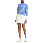 Striped Jersey Golf Pullover