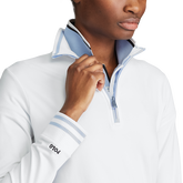 Alternate View 2 of Long Sleeve Ribbed Trim Quarter Zip Pull Over