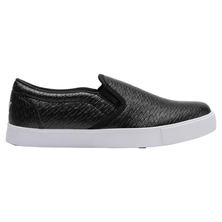 Tustin Slip-On Women's Golf Shoe - Black/White