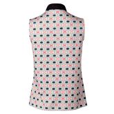 Alternate View 2 of Coastal Collection: Trish Navy Geo Print Sleeveless Polo Shirt