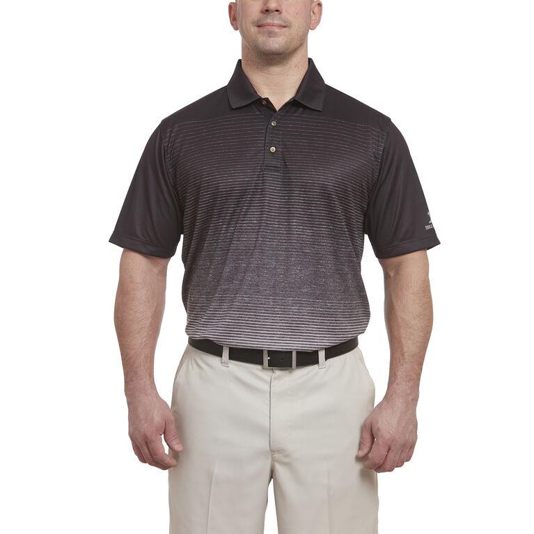 Short Sleeve Ombre Stripe Polo