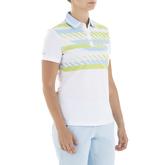 Alternate View 1 of Gelato Collection: Gabi Short Sleeve Stripe Front Polo