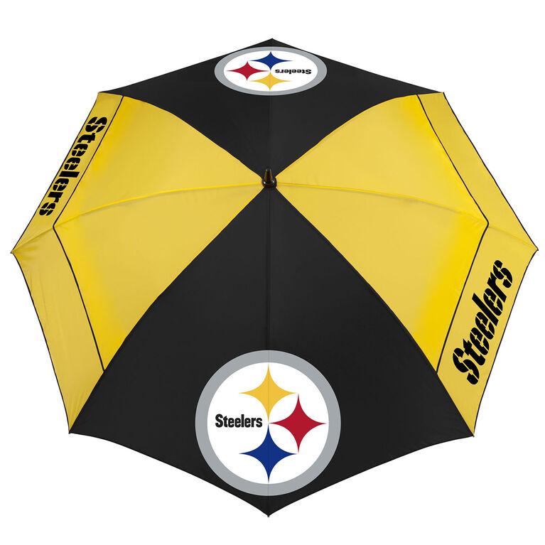 """Team Effort Pittsburgh Steelers 62"""" WindSheer Lite Umbrella"""