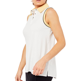 Alternate View 3 of Biltmore Collection: Sleeveless Piped Rib Trim Top