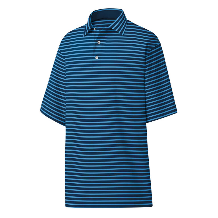 Stretch Lisle Stripe Self Collar