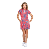 Alternate View 1 of Fun in the Sun Collection: Neale Short Sleeve Cheetah Dress