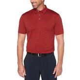 Yarn Dyed Feeder Stripe Short Sleeve Polo Golf Shirt