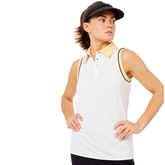 Alternate View 1 of Biltmore Collection: Sleeveless Piped Rib Trim Top