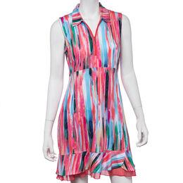 Shangri La: Sleeveless Brushstroke Dress