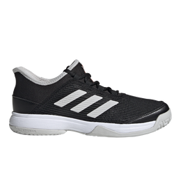 Adizero Club Kids Tennis Shoe - Black/White