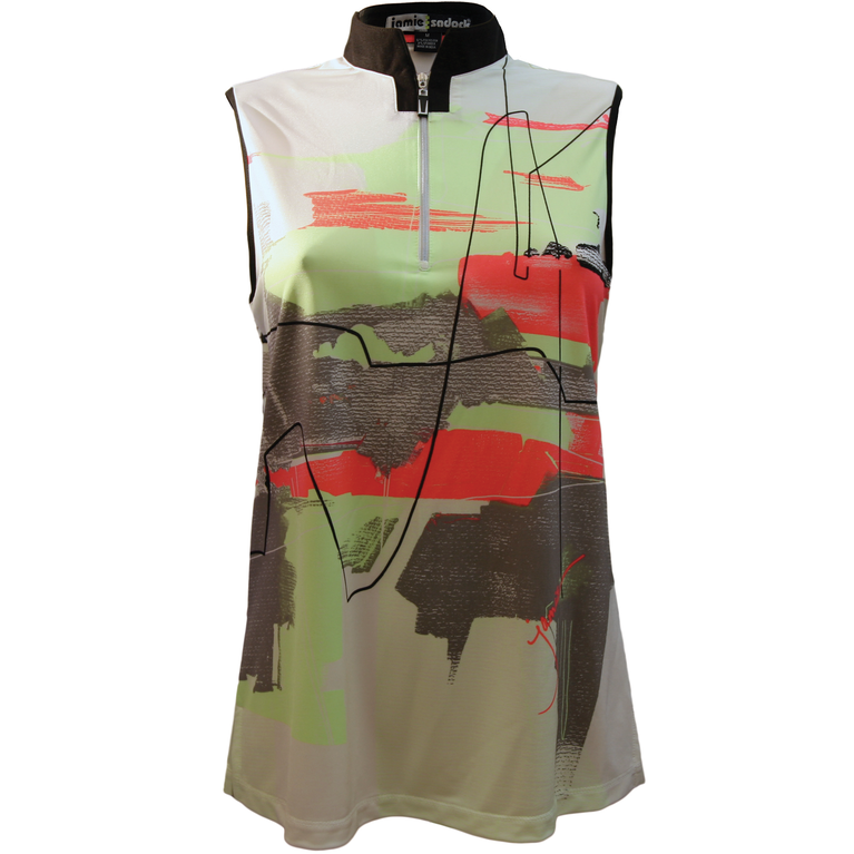 Super Nova Collection: Sleeveless Watercolor Print Top