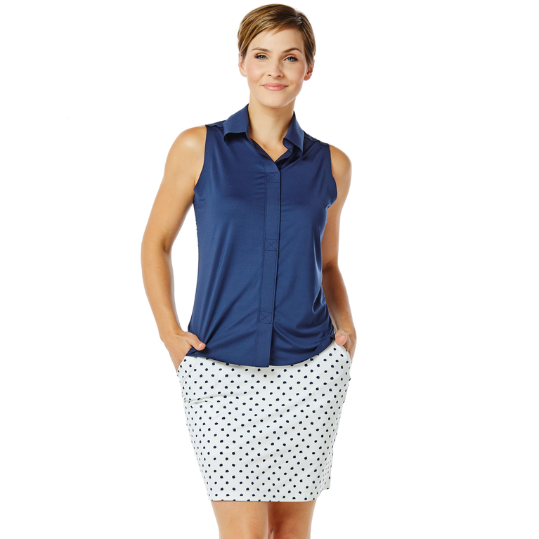 Nantucket Collection: Polka Dot Keystone Jersey Skort