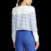 Alternate View 2 of Long Sleeve Striped Crewneck Golf Shirt