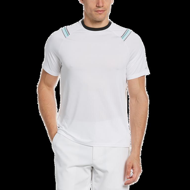 Diagonal Stripe Short Sleeve Tee Shirt