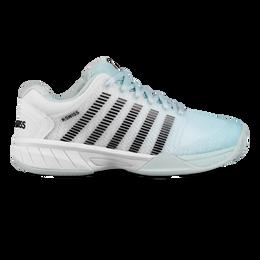 Hypercourt Express Junior Tennis Shoe - Light Blue/White