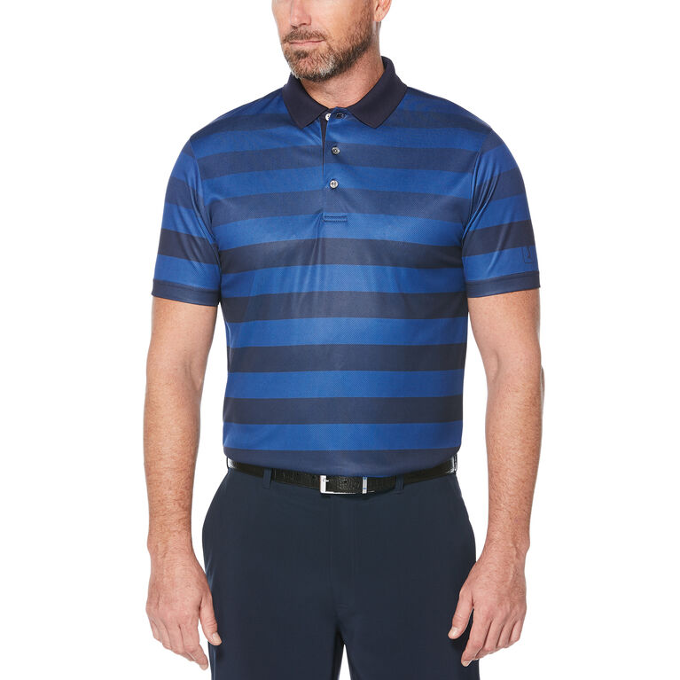 Engineered Rugby Stripe Short Sleeve Polo Golf Shirt