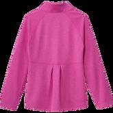 Alternate View 5 of Girls Long Sleeve Full Zip  Heathered Jacket