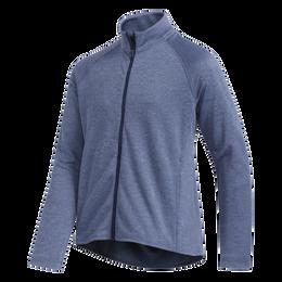 Long Sleeve Girls Full Zip Heathered Jacket