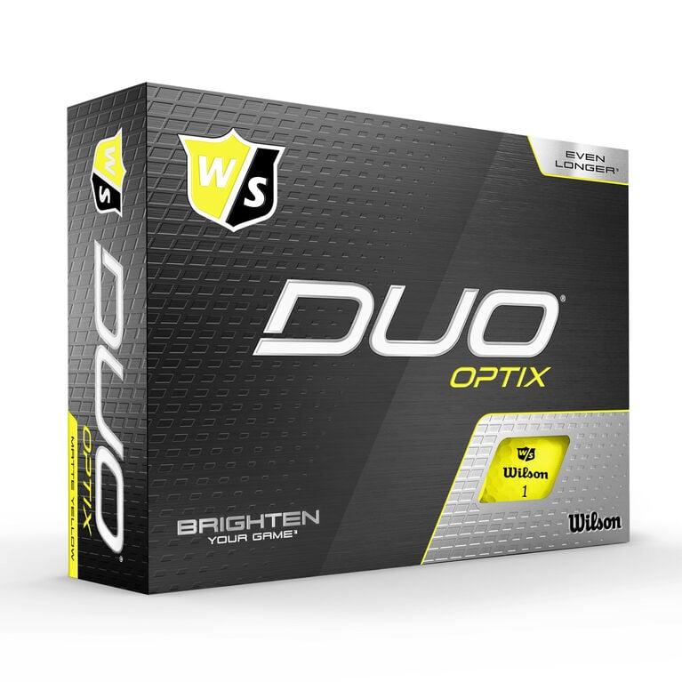 DUO Optix Yellow Golf Balls