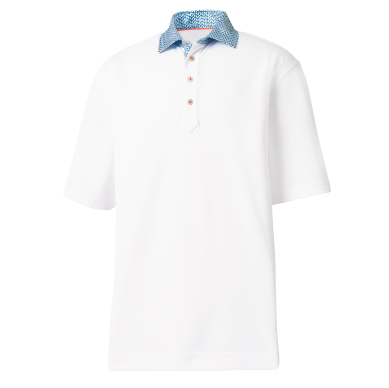 FootJoy Pique Print Self Collar Polo