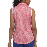 Alternate View 1 of Rose Group: Sleeveless Leaf Print Polo