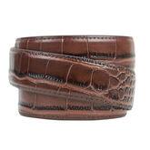 Nexbelt Reptile Alligator Dress Belt - Dark Brown