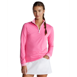 Performance Tipped Jersey Quarter-Zip Pull Over