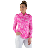 Alternate View 2 of Rojito Collection: Mosaic Print Quarter Zip Pull Over