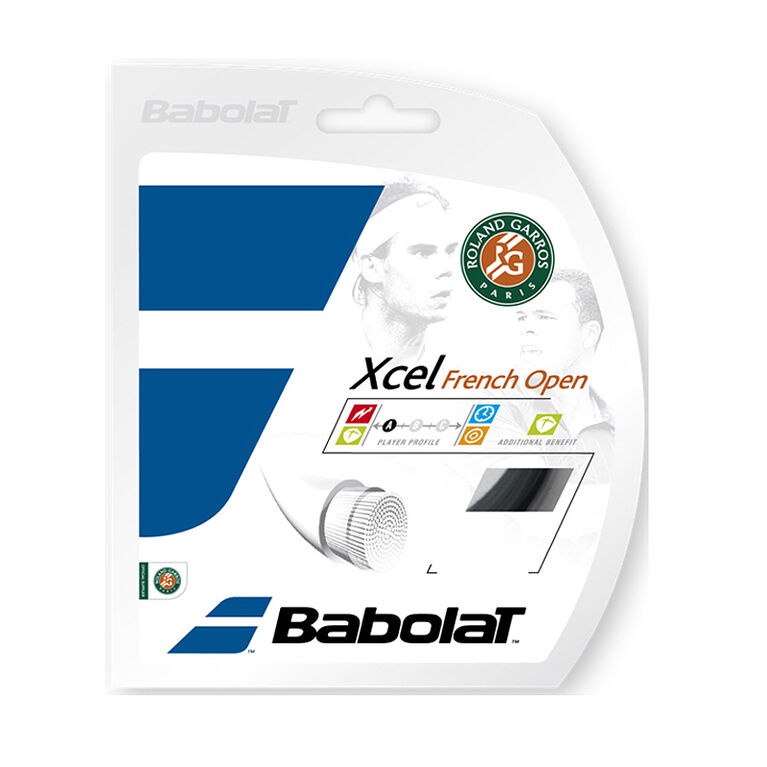 Babolat Xcel French Open 17 Gauge String - Black