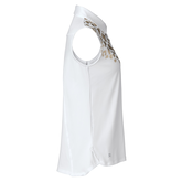 Alternate View 1 of Natural Collection: Larissa Sleeveless Gold Leopard Front Polo