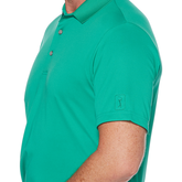 Alternate View 2 of Airflux Solid Mesh Short Sleeve Golf Polo Shirt