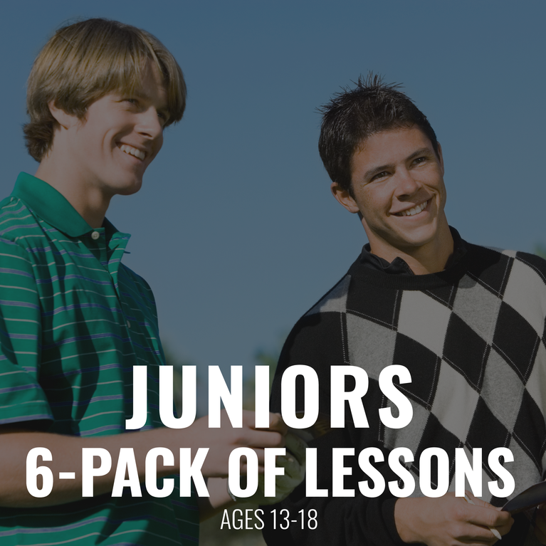 Junior 6 pack of Lessons Ages 13-18 years old Gift Certificate