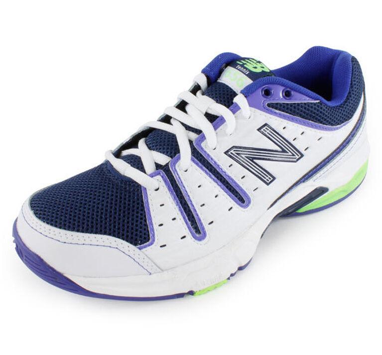 75537261 New Balance 656 Women's Tennis Shoe - White/Blue