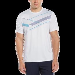 Linear Geo Print Crew Neck  Tee Shirt