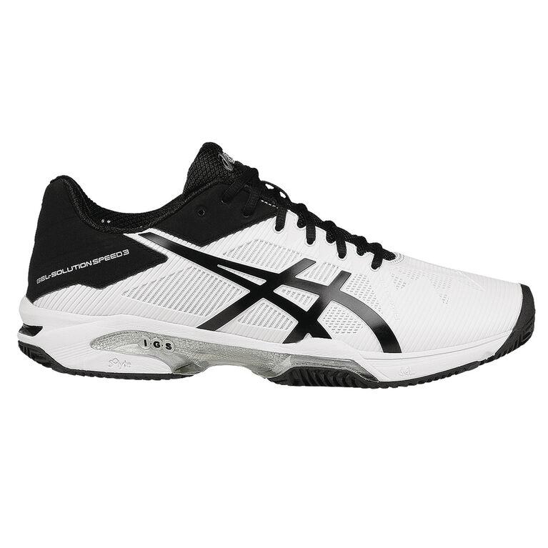 Asics GEL-Solution Speed 3 Clay Men's Tennis Shoe - White/Black