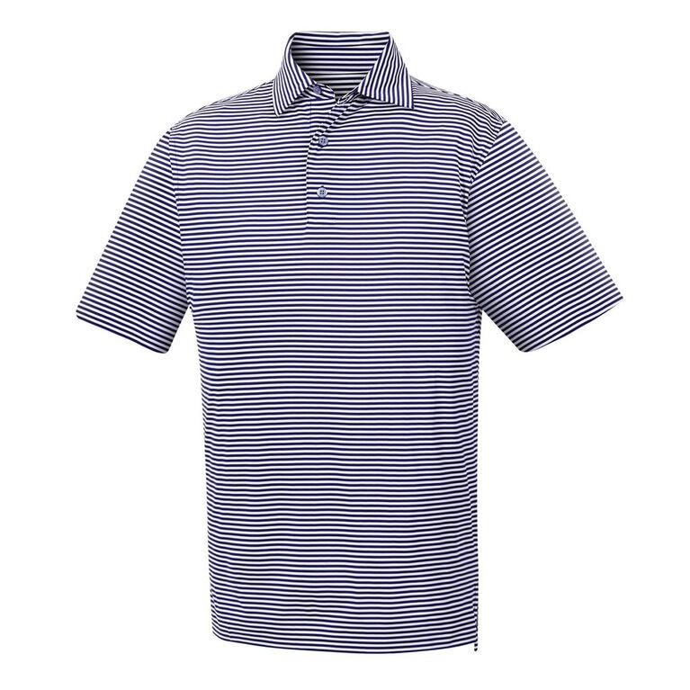 FootJoy Lisle Feeder Stripe Self Collar Polo