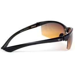GX5 Gloss Black Sports Wrap Sunglasses