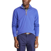 French Terry Half Zip Knit Pullover