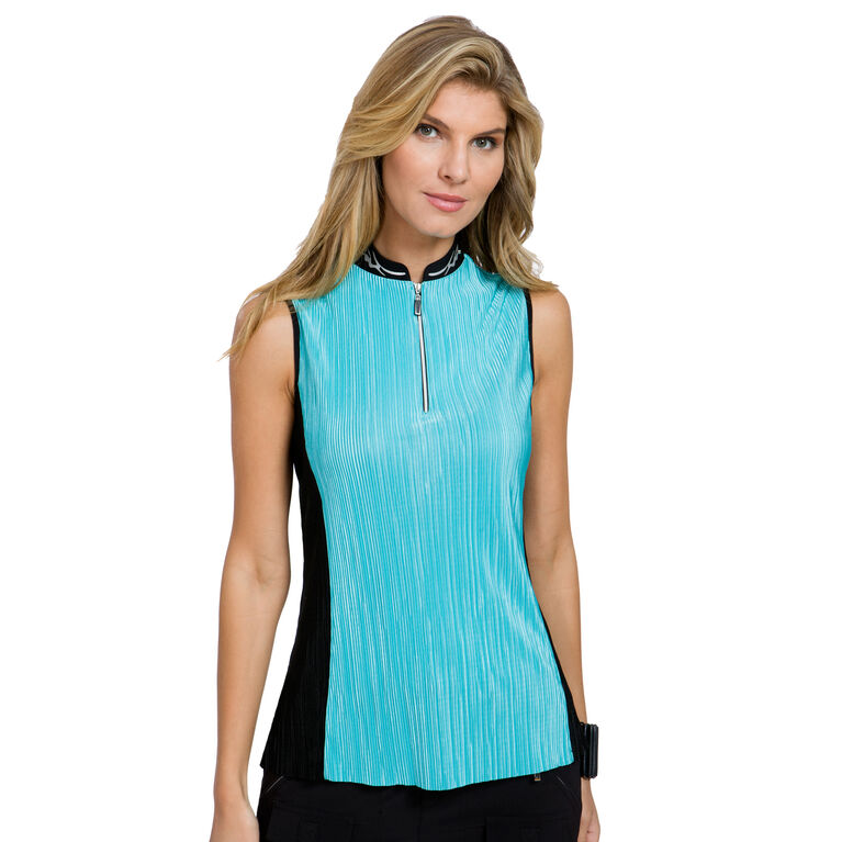 JELLY Group: Sleeveless Crunch Quarter Zip Polo