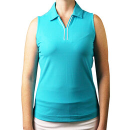 Pebble Beach Sleeveless Pique Polo