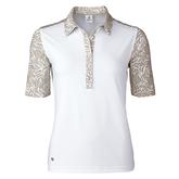 Almond Collection: Daphie White Polo Shirt