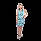Alternate View 1 of Mystic Sleeveless Coral Print Scallop Dress