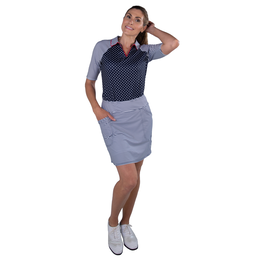 "Cape May Collection: Mina Striped 17"" Long Golf Skort"