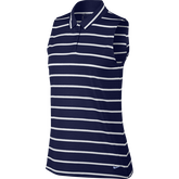 Sleeveless Striped Victory Polo