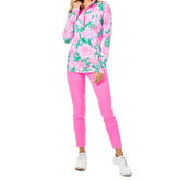 Alternate View 1 of Justine Luxetic Pineapple Paradise Quarter Zip Pull Over