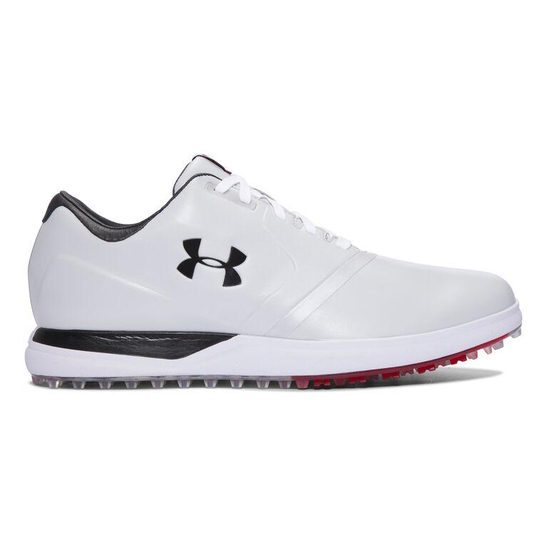 Under Armour Performance SL Men's Golf Shoe - White/Black/Red